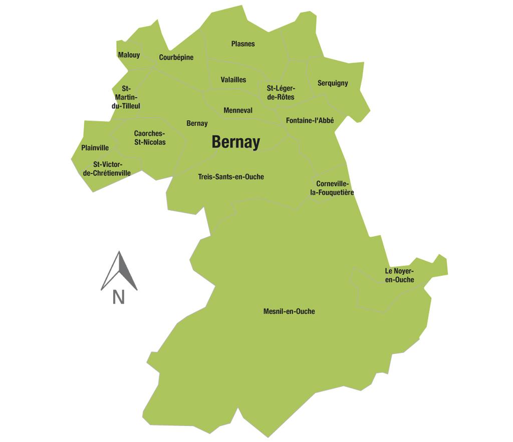 Carte canton Bernay Election départementale Eure 27